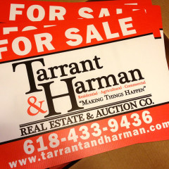 Tarrant & Harman 18×24 Yard Signs