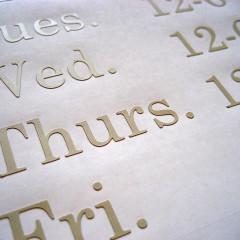 Vinyl Hours Sign